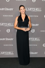 Jennifer Garner chose a tux-inspired black halter gown by Lanvin for the 2018 Baby2Baby Gala.