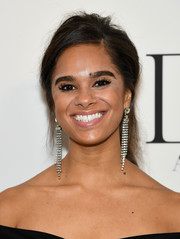 Misty Copeland sported an edgy messy ponytail at the 2018 DVF Awards.