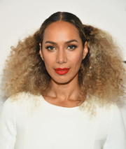 Leona Lewis worked a voluminous half-up 'do at the 2018 DVF Awards.