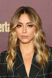 Chloe Bennet was gorgeously coiffed with boho-glam waves at the 2018 Entertainment Weekly pre-Emmy party.