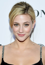 Lili Reinhart styled her hair into a simple loose updo for the 2018 Glamour Women of the Year Awards.