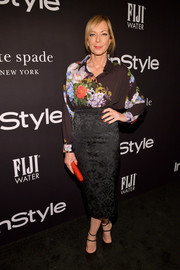 Allison Janney was abloom in an Antonio Marras floral blouse at the 2018 InStyle Awards.