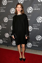 Sofia Coppola opted for a simple long-sleeve LBD when she attended the 2018 Library Lions Gala.