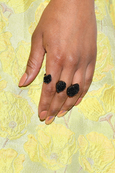 More Pics of Alicia Quarles Pixie (2 of 7) - Alicia Quarles Lookbook - StyleBistro [nail,finger,hand,yellow,skin,nail care,manicure,cosmetics,gesture,thumb,alicia quarles,ring detail,pier 60,new york city,national retail federation gala]