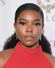 Gabrielle Union swept her hair back into a curly ponytail for the 2018 Night of Opportunity Gala.