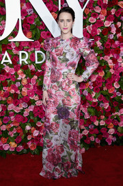 Rachel Brosnahan went ultra sweet in a floral sequined gown by Dolce & Gabbana at the 2018 Tony Awards.
