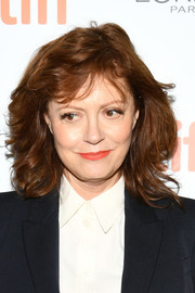 Susan Sarandon wore a feathery 'do with wispy bangs at the TIFF premiere of 'The Death and Life of John F. Donovan.'
