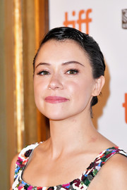 Tatiana Maslany pulled her hair back into a slick updo for the TIFF premiere of 'Destroyer.'