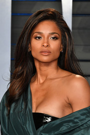 Ciara looked gorgeous with her high-volume 'do at the 2018 Vanity Fair Oscar party.