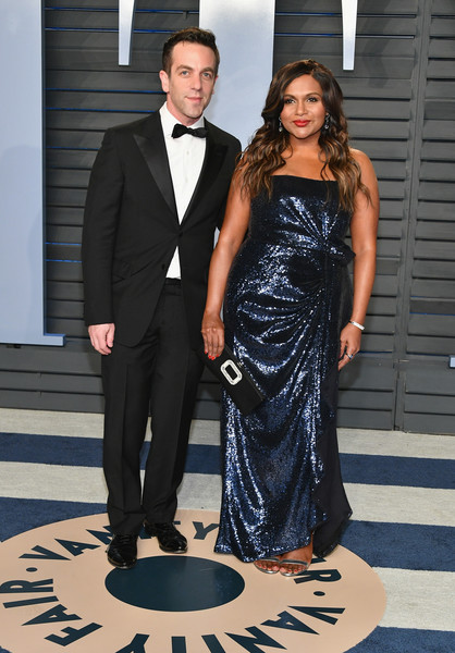 More Pics of Mindy Kaling Diamond Bracelet (8 of 9) - Bracelets Lookbook - StyleBistro [oscar party,vanity fair,l,suit,formal wear,clothing,tuxedo,fashion,dress,event,outerwear,haute couture,gown,beverly hills,california,wallis annenberg center for the performing arts,radhika jones - arrivals,bj novak,radhika jones,mindy kaling]