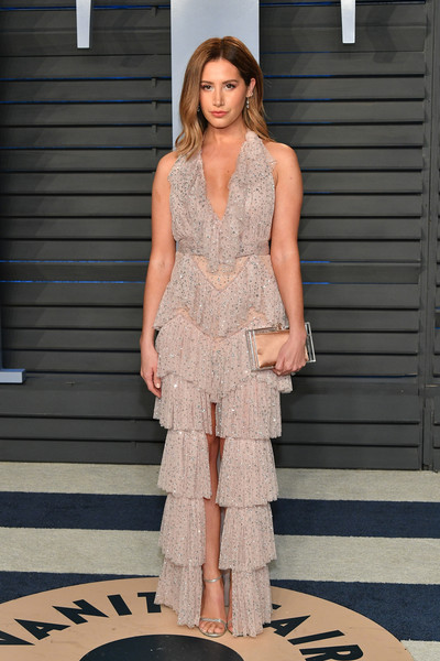 More Pics of Ashley Tisdale Beaded Dress (1 of 4) - Ashley Tisdale Lookbook - StyleBistro [oscar party,vanity fair,fashion model,runway,fashion,flooring,catwalk,fashion show,dress,girl,gown,haute couture,beverly hills,california,wallis annenberg center for the performing arts,radhika jones - arrivals,radhika jones,ashley tisdale]