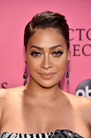 La La Anthony worked a punky ponytail at the 2018 Victoria's Secret fashion show.