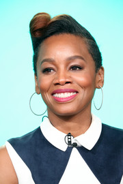Anika Noni Rose rocked a victory roll at the 2018 Winter TCA Tour.