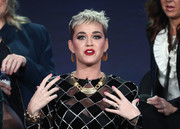 Katy Perry opted for a sweet pink mani when she attended the 2018 Winter TCA Tour.