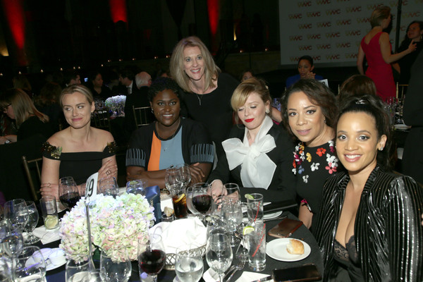 More Pics of Taylor Schilling Ponytail (1 of 9) - Taylor Schilling Lookbook - StyleBistro [event,meal,dinner,fashion,party,banquet,lunch,ceremony,supper,crowd,womens media awards,l-r,new york city,capitale,taylor schilling,natasha lyonne,selenis leyva,danielle brooks,dascha polanco]