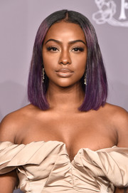 Justine Skye looked oh-so-cool with her purple-dyed lob at the 2018 amfAR Gala New York.