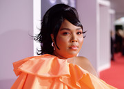 Lizzo styled her hair into a retro-chic ponytail for the 2019 American Music Awards.