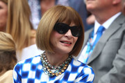 Anna Wintour was spotted at the 2019 Australian Open wearing her signature bob.