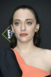 Kat Dennings pulled her hair back into a ponytail for the 2019 E! People's Choice Awards.