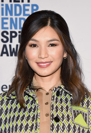 Gemma Chan styled her hair into a sweet half-up 'do for the 2018 Film Independent Spirit Awards nomination press conference.