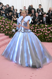 Zendaya Coleman came dressed as Cinderella in a light-up ballgown by Tommy Hilfiger at the 2019 Met Gala.