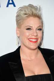 Pink attended the 2019 MusiCares Person of the Year event wearing her signature fauxhawk.