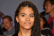 Zazie Beetz Metallic Eyeshadow