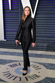 Diane Lane sported a sleek black suit by Gabriela Hearst at the 2019 Vanity Fair Oscar party.