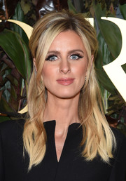 Nicky Hilton looked elegant wearing this teased half updo at the 2019 WWD Honors.