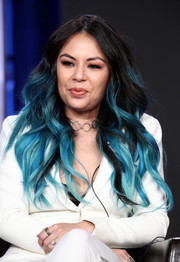 Janel Parrish kept it fun with these ombre waves at the 2019 Winter TCA Tour.