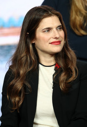 Lake Bell sported a flowing wavy hairstyle at the 2019 Winter TCA Tour.