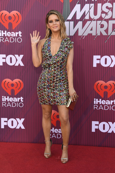 More Pics of Maren Morris Beaded Dress (2 of 8) - Dresses & Skirts Lookbook - StyleBistro [red carpet,carpet,clothing,dress,premiere,flooring,fashion,footwear,event,leg,arrivals,maren morris,iheartradio music awards,california,los angeles,microsoft theater,fox]