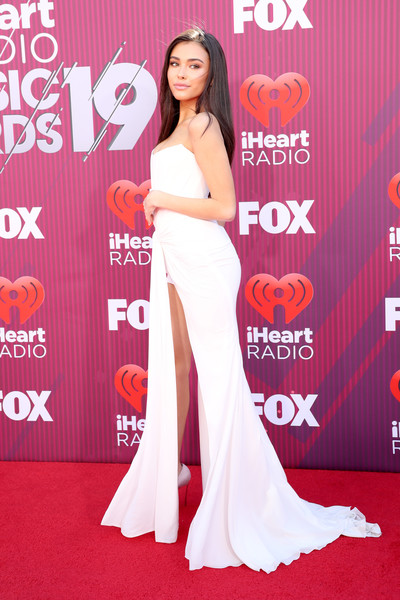 More Pics of Madison Beer Diamond Ring (1 of 9) - Gemstone Rings Lookbook - StyleBistro [red carpet,red carpet,carpet,clothing,flooring,dress,premiere,gown,shoulder,event,joint,madison beer,iheartradio music awards,commercial use,california,los angeles,microsoft theater,fox]