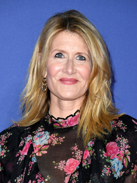Laura Dern wore her hair in messy-chic layers at the 2020 Palm Springs International Film Festival Awards.