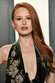 Madelaine Petsch looked elegant with her side-swept 'do at the 2020 Vanity Fair Oscar party.