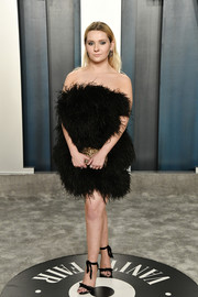 Abigail Breslin teamed her frock with black ankle-tie sandals by Alexandre Birman.
