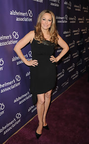 Melora Hardin wore this asymmetrical LBD on the Alzheimer's Association 'A Night at Sardi's' red carpet.