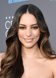 Genesis Rodriguez wore her hair in voluminous curls at the Critics' Choice Movie Awards.