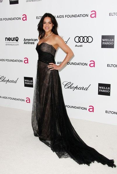 More Pics of Michelle Rodriguez Strapless Dress (1 of 4) - Michelle Rodriguez Lookbook - StyleBistro