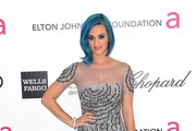 Singer Katy Perry arrives at the 20th Annual Elton John AIDS Foundation's Oscar Viewing Party held at West Hollywood Park on February 26, 2012 in West Hollywood, California.