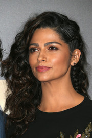 Camila Alves opted for a pair of simple gemstone studs to finish off her look.