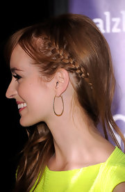 Ahna O'Reilly wore her hair with an adorable slim French braid at the 20th Annual A Night at Sardi's Fundraiser.
