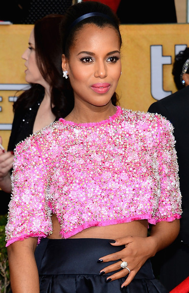More Pics of Kerry Washington Classic Bun (2 of 19) - Kerry Washington Lookbook - StyleBistro