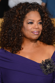 Oprah Winfrey rocked a massive curly hairdo at the SAG Awards.