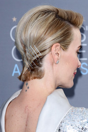 Sarah Paulson styled her short hair with a teased top and a bobby-pinned back for the Critics' Choice Awards.