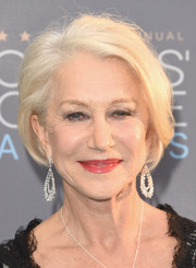 Helen Mirren kept it classic with this platinum-blonde bob at the Critics' Choice Awards.