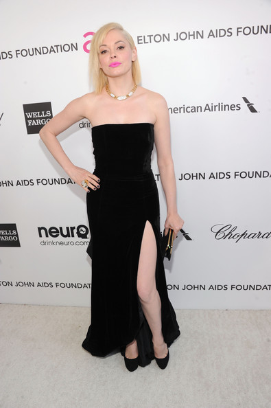 Rose McGowan at Elton John's 2013 Oscars Party