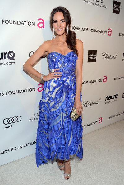 Louise Roe at Elton John's 2013 Oscars Party