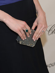 An agate ring added a pop of color to Katie Aselton's Oscar-party look.