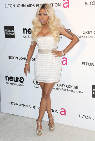 More Pics of Nicki Minaj Mini Dress (1 of 10) - Nicki Minaj Lookbook - StyleBistro
